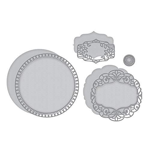 Spellbinders Brillante Rondelle - Troqueles (cobre, borde exterior: 11,4 x 11,4 cm)