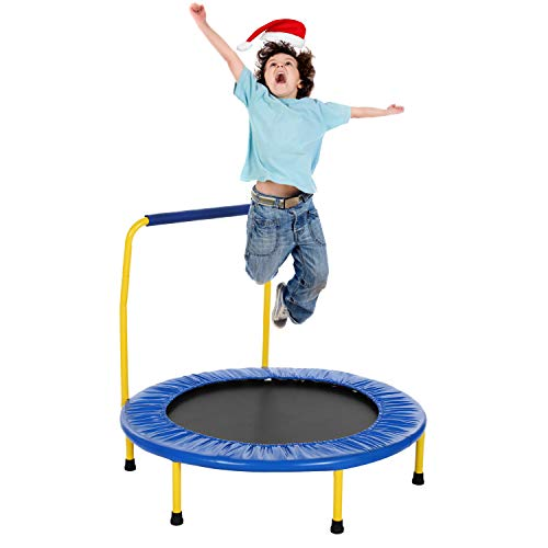 ANCHEER Kids Trampoline with Safely Handrail,36'' Outdoor Mini Toddler Rebounder Trampoline,Indoor...