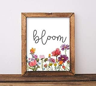 Printable Art, Bloom, Playroom Sign, Classroom Decor, Baby Girl Nursery, Inspirational Quote, Floral, Graduation Gift, Gracie Lou Printables