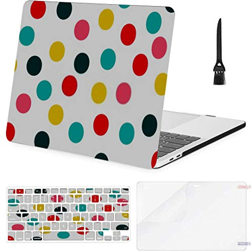 MacBook Pro 13 Inch Case Polka Dot Pattern Seamless Vector Background MacBook Air 13 Inch Case with Keyboard Cover Screen Protector Cleaning Brush