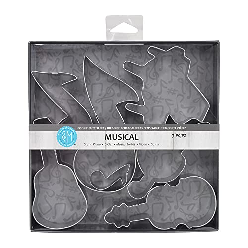 R&M International Musical Cookie Cutters, Piano, 3 Music Notes, G...