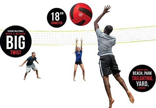 Wicked Big Sports Voleibol Supersize Voleibol Deporte Al Aire Libre Puerta Trasera Playa Juego Diversión para Todos, Modelo: 95701