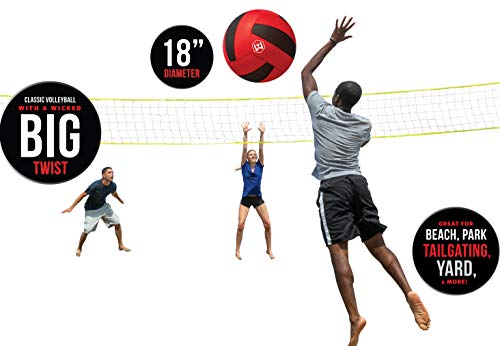 Wicked Big Sports Volleyball-Supersized Volleyball Outdoor Sport Tailgate Backyard Beach Game Fun for All, Model:95701