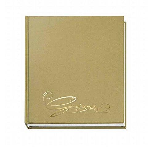 Veloflex 5420011 Gäste-Buch Classic mit Prägung Gäste, 144 Seiten weißes blanko Papier, 205x240...