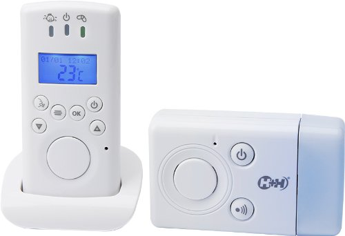 H+H Babyruf MBF 7010 Babyphone, mit Nachtlicht 300 Meter Reichweite