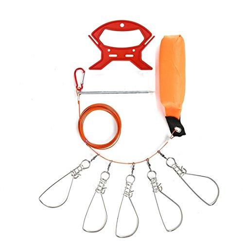 「ナイトアーミー」ステンレス ストリンガー 5連 フロート装備 ワンタッチフック5個 ラインカッター付 磯釣りの必需品!