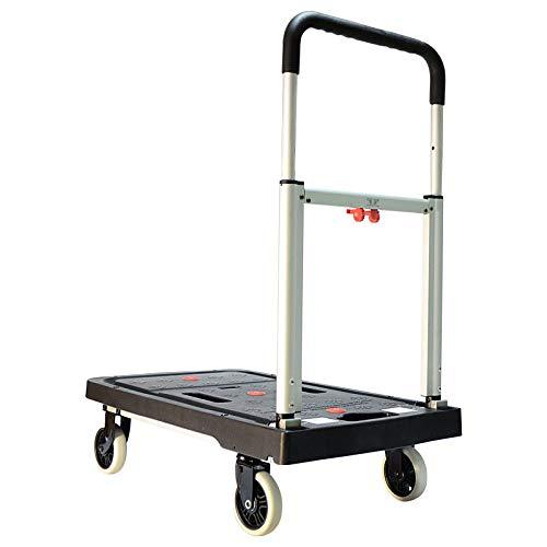 QNN Tableta Plegable Carretilla Remolque Portátil Camión de Tirón Doméstico Cargar 300 kg de la instalación. Vehículo de Utilidad/Negro