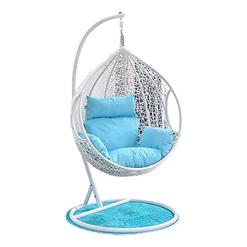 MKKYDFDJ Hamaca Swing Egg Chair Silla mecedora, para ocio al aire libre, comodidad y durabilidad superiores, silla colgante de cuerda hamaca al aire libre para playa, camping, debajo del árbol