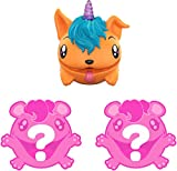 Pooparoos: Squishy Pooping Pets Surprise Multipack with 3 Pooparoos - Figures and 10 Food Accessories