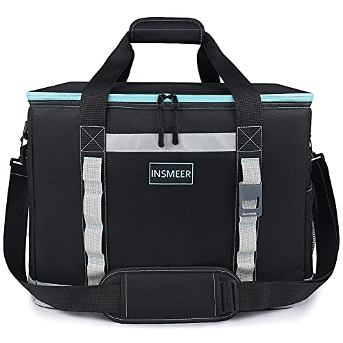 [2021 NEW] INSMEER Large Cooler Bag 65 Can Camping Cooler Leakproof/Insulated/Collapsible/Easy Clean,with Bottle Opener&Removable Shoulder Strap, Suitable for Beach Picnic Grocery Shopping Camping 48L