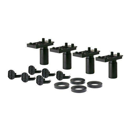 Ikea METOD Beine in schwarz; höhenverstellbar; (8cm); 4 Stück