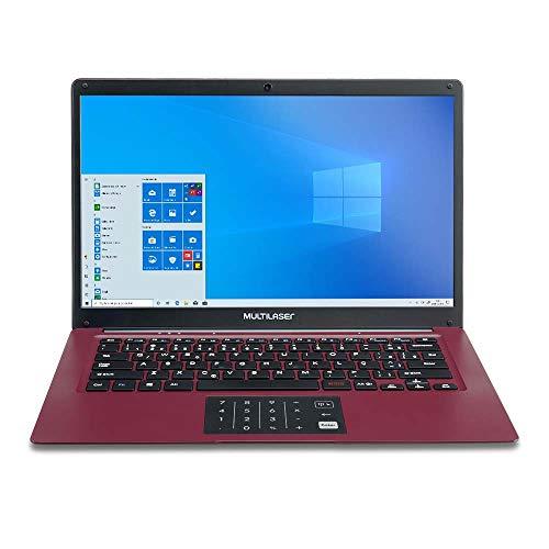 Notebook Multilaser Legacy Cloud 14 Pol. 2GB 32GB W10 Vermelho - PC133