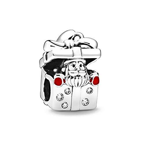 shangwang Christmas Deer Beads Geeignet für Original Pandora Charm 925 Silber Armband DIY Ladies Jewelry B071