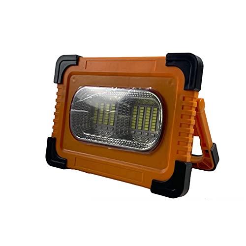 WKZ Foco Proyector Led Exterior 50W 100W 200W,USB Recargable 10000MA / A Foco Led Bateria,36-100 Cuentas De Lámpara Luz De Trabajo con Iman para Acampar, Aventura, Super Brillante(Size:100W)