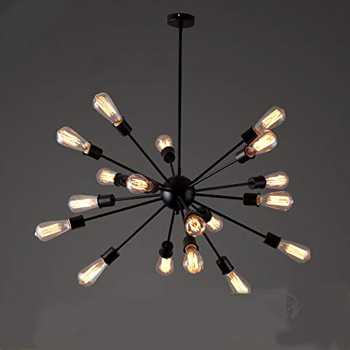 YNXing Candelabro Sputnik Lámpara Colgante Moderna E27 Portalámparas para Dormitorio, Sala de estar, Comedor, Bar, Pasillo (20 heads)