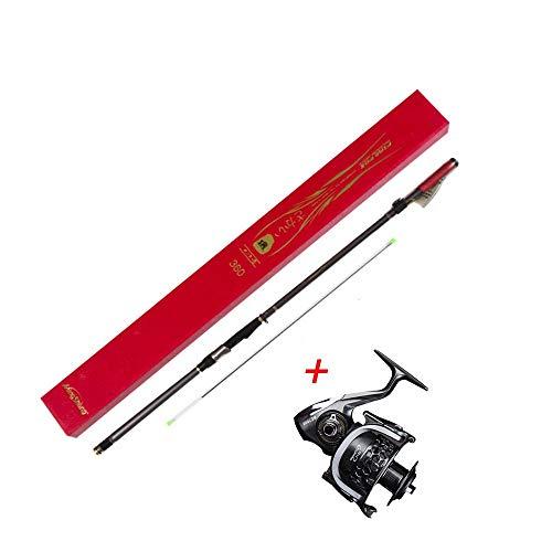 Pesca Rod Combos con telescópico Caña de Pescar Spinning Carretes Telescópicas Carbono para | Adultos Barco, Surf, Lago, Presa, Océano, Mar, Viajes al Aire Libre