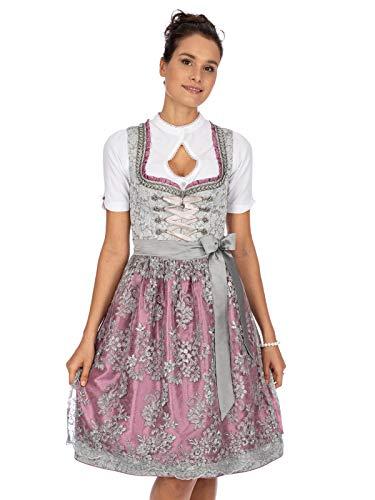 Stockerpoint Damska sukienka Dirndl Nicole na specjalne okazje, szaro-bordowy, 44 PL