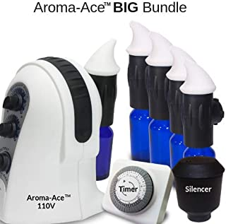 Diffuser World : Aroma-Ace BIG Bundle (Includes: 5 Atomizers, 1 Timer, and 1 Silencer)