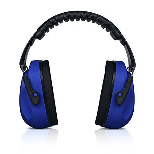 HEARTEK Kids Ear Protection Noise Reduction Children Protective Earmuffs – Sound Cancelling Hearing Muffs for Toddler, Baby, Infants – Adjustable, Foldable with Travel Bag- Dark Blue