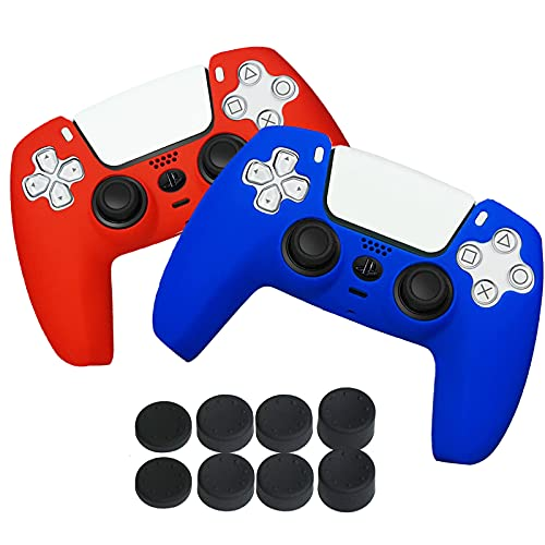 Case for PS5 Controller Skin 2 Pack, Playstation 5 Controller Cases Protective Cover Silicone Anti-Slip Compatible with…