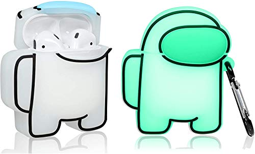 Imposter Among Us Case Compatible for Airpods 2/1, Cute Unique Cartoon Kawaii Fashion Character Air...