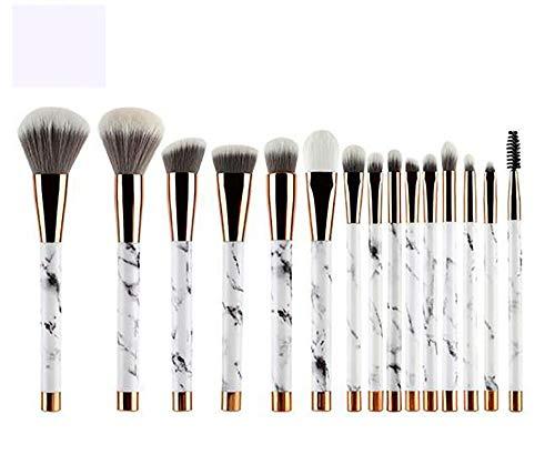 XUXIAOXU666-BrushSets 15 Outils de Peinture de Pinceau de beauté en marbre sur Mesure poignée de Maquillage Maquillage Pinceau Set