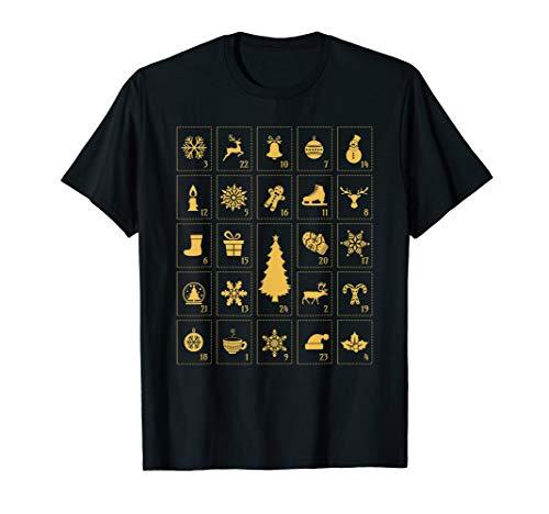 Adventskalender Geschenk Weihnachten Advent Deko T-Shirt