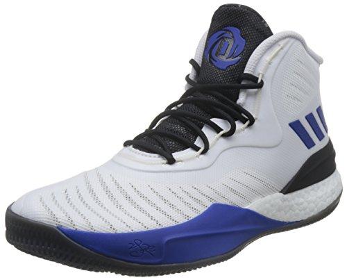 adidas D Rose 8, Zapatillas de Deporte Hombre, (Ftwbla/Azusld/Negbas), 50 2/3 EU