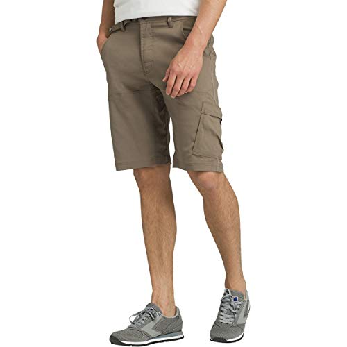 """prAna - Men's Stretch Zion Lightweight, Water-Repellent Shorts for Hiking and Everyday Wear, 12"""" Inseam, Mud, 28"""