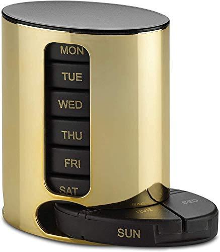 Daily Pill Organizer – (4 keer per dag) stapelbare medicatie Reminder – Premium wekelijkse AM / PM pillendoos met 7…