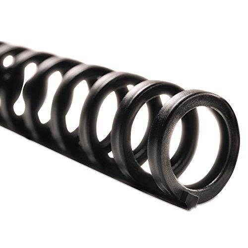 Swingline GBC ProClick Easy Edit Spines, 1/2 inch Diameter, 85 Sheet Capacity, Black, 100/Box