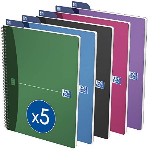 Oxford 100101421 - Cuaderno de anillas, multicolor