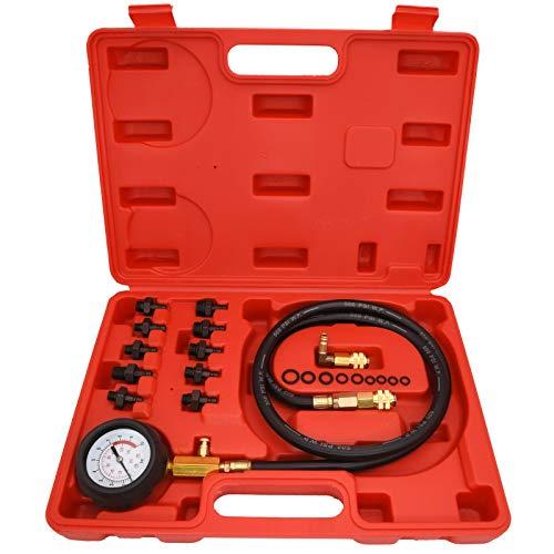Oil Pressure Tester Kit, 0-140 PSI Engine Oil Pressure Tester Gauge Tool Kit for Cars ATVs Trucks Use.