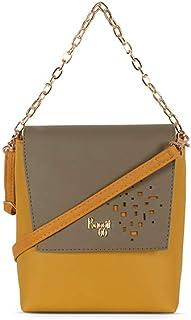 Baggit Women's Synthetic Handbag (Yellow) (Lp Snare)