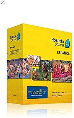 Rosetta Stone Spanish Latin America Espanol Version 4 Level 1 5 Set Latest Version product image