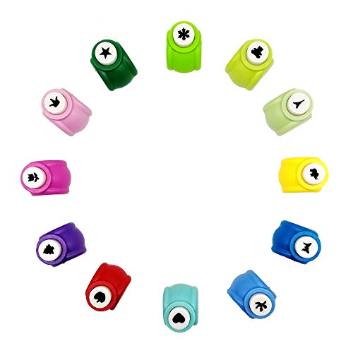 12 Pcs Paper Punch Mini Paper Craft Punch, Edger Punch DIY Scrapbooking Punches
