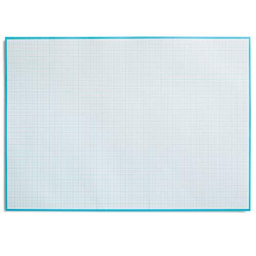 Millimeterpapier-Block zum Beschreiben und skizzieren I zum Abreißen I Mathematisches Papier mit Linienstruktur I für Büro und Schule I DIN A2 I groß I blau I Offset 90 g/m² 40 Blatt I dv_780