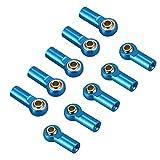 10PCS ShareGoo Aluminum M3 Tie Rod End Ball Joint Link Ball Head Holder for Tamiya HSP Traxxas Axial SCX10 1/10 RC Car Truck Buggy Crawler