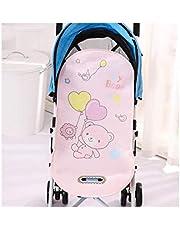 وسادة لكرسي السيارة وعربة أطفال بتصميم مهوى لحديثي الولادة بملمس حريري لون بينك