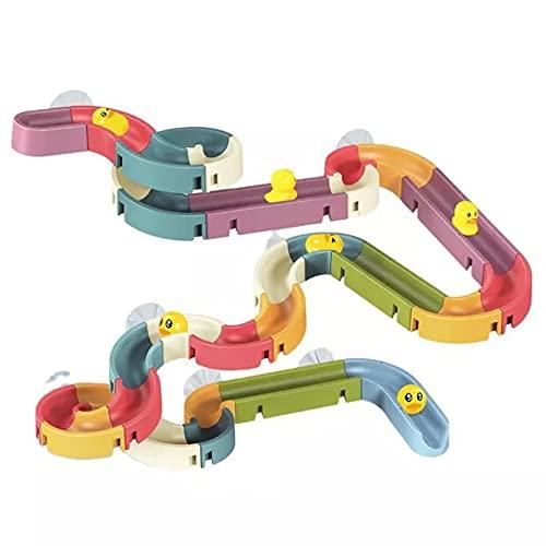 JUQIAO Juego de pista de baño Juguetes Diy Track Bañera Juguete para niños Niños Niñas Juguetes 3 4 5 años de edad