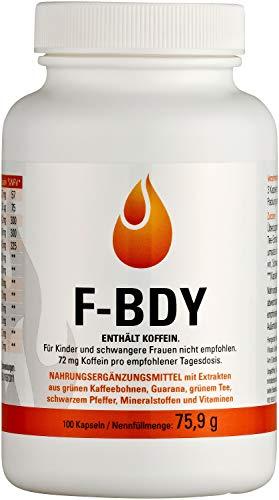 Vihado F-BDY | Groene koffiebonen, groene thee, Guarana | 100 capsules | 75,9 g