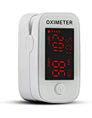 Pulsoksymetr, monitorowanie nasycenia tlenu we krwi, tętno i dokładny miernik tlenu SpO2, oksysymetr ze smyczą i bateriami dla dorosłych, dzieci i rodziny opieki zdrowotnej