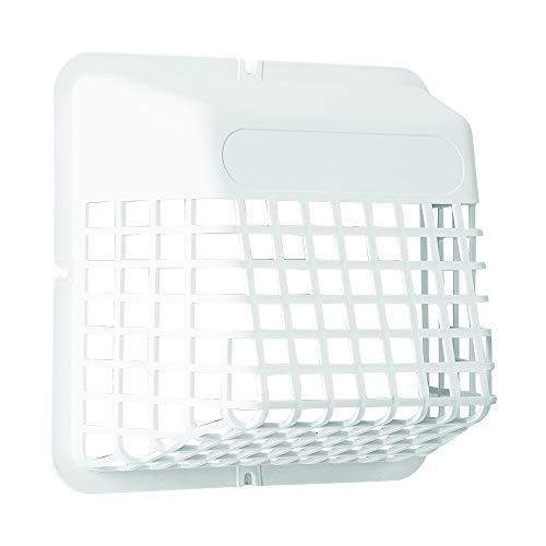 "Deflecto DEFUBGWL Universal Bird Guard, Fits 3"" to 4"" Vents, White (UBGWL)"