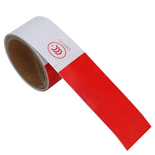 Lyqdxd 5 cm x 3 m Buntes reflektierendes Sicherheitsband Warnband Barrikade Band Gefahrenaufkleber für Auto/Garten 5CM*3M 2