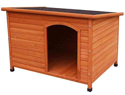 HiCaptain Waterproof Wooden Pet House Deluxe Solid Cedar Dog Kennel Universal Fits