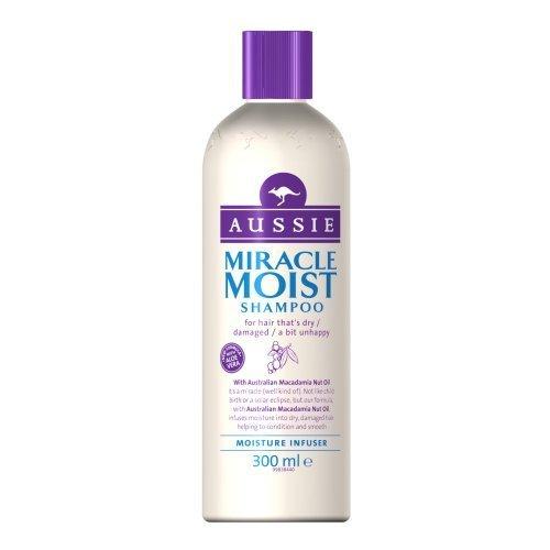 Aussie Miracle Moist Champú 300 ml (Pack de 3) by Procter & Gamble