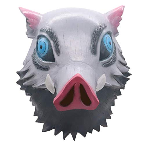 Hashibira Inosuke Mask Demon Slayer Cosplay Disfraz de
