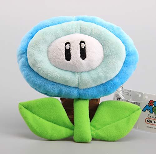 lili-nice Peluches Super Mario Bros Flor De Hielo Y Flor De Fuego 18 Cm S Muñecos De Peluche De Dibujos Animados