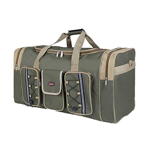 Cicilin Unisex Reisetaschen Wasserdicht Oxford Große Handtasche Weekender Tasche Armee grün 64 * 30 * 33CM