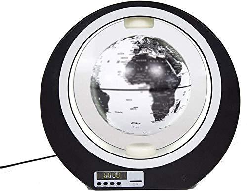 4 Pulgadas Bola del Mundo Magnetica con Luces Color LED,Negro Plata Iman Levitacion para La Enseñanza y La Decoración del Hogar de Oficina